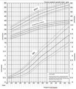 кривая роста недоношенной девочки